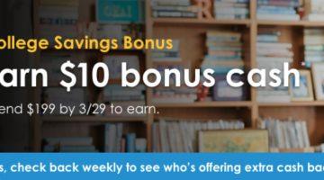 Upromise $10 bonus