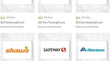 AARP Albertsons Safeway Gift Cards