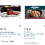 Costco restaurant gift cards