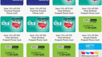 Kroger prepaid phone 15% discount 05.27.20