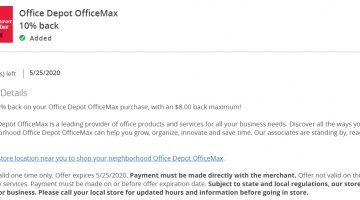 Office Depot OfficeMax Chase Offer 10% $8 Back