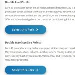 Speedway monthly perks May 2020