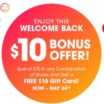 Tanger Outlet $10 Gift Card Promotion 05.15.20