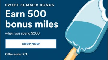 Alaska Airlines Shopping Portal Promo Spend $200 Get 500 Bonus Miles