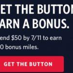 Delta SkyMiles Shopping Portal 250 Bonus Miles When Spending $50 Button