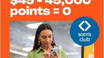 Drop Sam's Club $45 45,000 Points