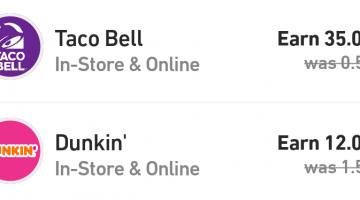 Fluz Taco Bell Dunkin' Donuts