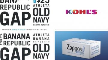 ShopRite Gap Kohl's Zappos