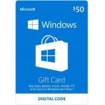 $50 Microsoft Windows Store Gift Card