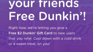 Bitmo Dunkin' Donuts $2 referral $50 bonus