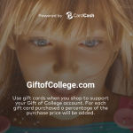 CardCash Gift of College Cashback For College