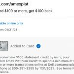 Dell Amex Offer $100 Credit