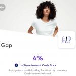 Dosh Gap 4% In-Store
