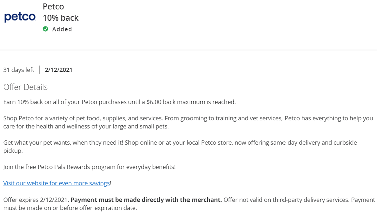Petco Chase Offer