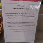 Stop & Shop Gift Card Limits $2,000 Per Person Per Day