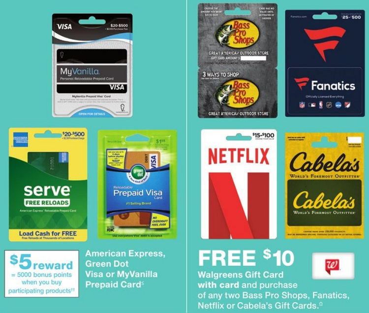 Expired Walgreens Buy 2x Select Gift Cards Get 10 Walgreens Gift Card Free Netflix Cabela S Bass Pro Shops Fanatics Gc Galore