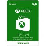 $60 Xbox Gift Card