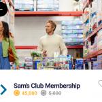 Drop Sam's Club 45,000 Points