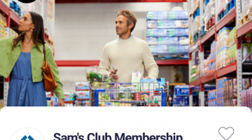 Drop Sam's Club 45,000 Points