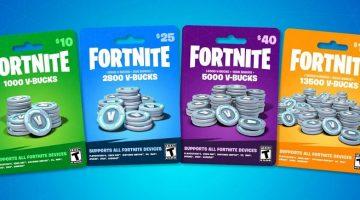Fortnite V-Bucks Gift Cards