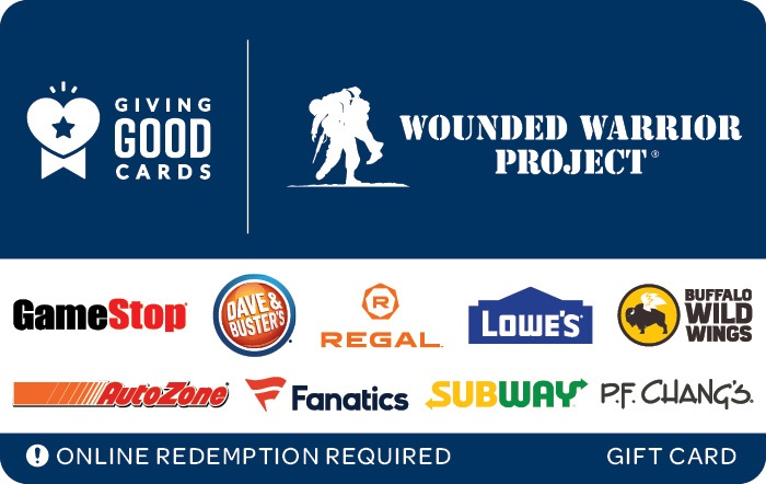 Giving Good Wounded Warrior Project Swap Gift Card