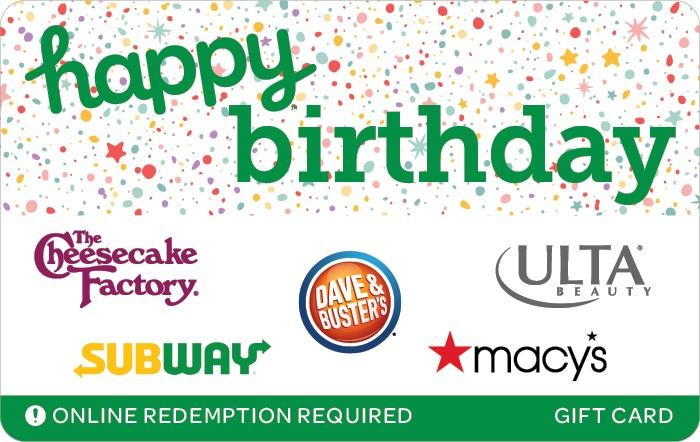 Happy Birthday Swap Gift Card
