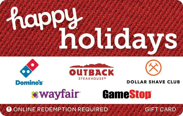 Happy Holidays Swap Gift Card