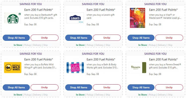200 Dallar Roblox Gift Card Expired Kroger Earn 200 Bonus Fuel Points On Select Gift Cards Targeted Ends 9 1 9 8 Gc Galore