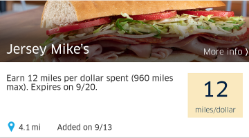MPX United Visa Rewards Jersey Mike's
