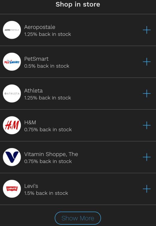 Bumped app in-store retailers