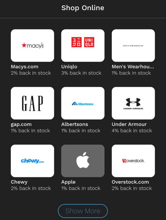 Bumped app online retailers