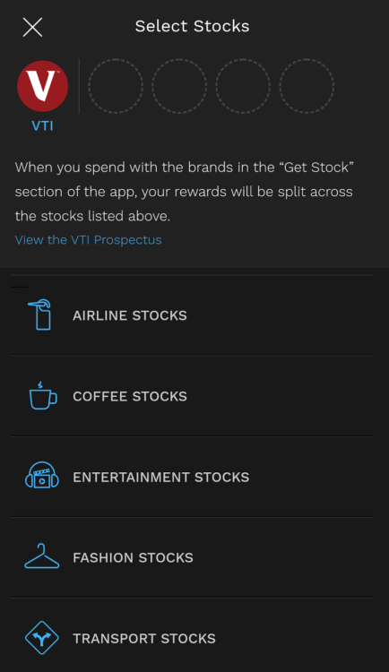 Bumped stock categories 1