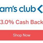 Rakuten Sam's Club 3% 3x