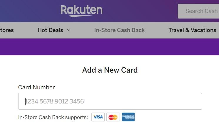 Rakuten in-store cashback options