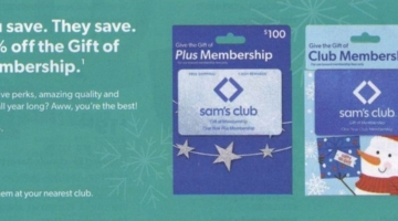 Sam's Club Gift Of Membership 10% Off