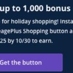 United shopping portal button bonus