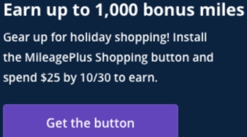 United shopping portal button bonus