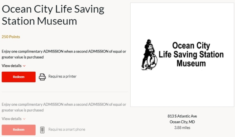 AARP Rewards Local Offers Ocean City Life Saving Station Museum