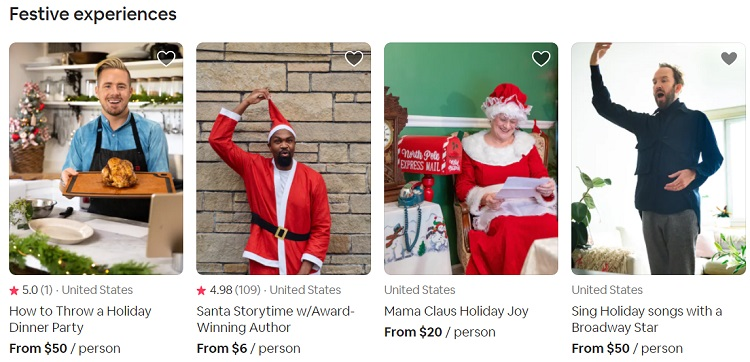 Airbnb Online Experiences - Festive