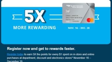 Amtrak 5x spending offer