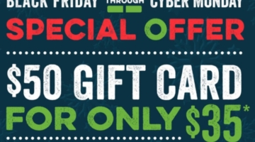 O'Charley's discounted gift cards