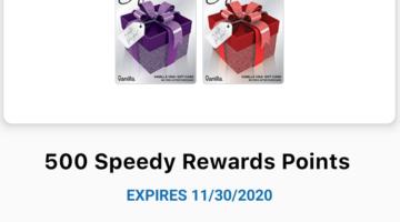 Speedway Vanilla Visa gift card deal