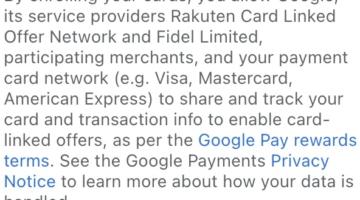 Rakuten Google Pay