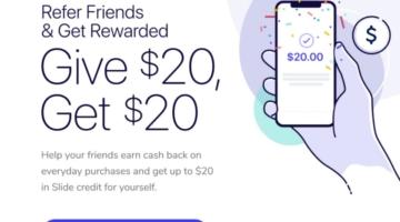 Slide $20 Referral Bonus