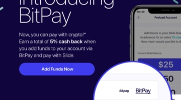 Slide App BitPay Bitcoin
