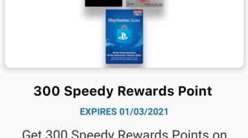 Speedway 300 Bonus Points $25 Gift Cards
