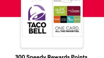 Speedway restaurant gift cards