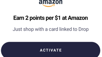 Drop Amazon 2 points per dollar