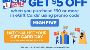 Kroger promo code HIGHFIVE