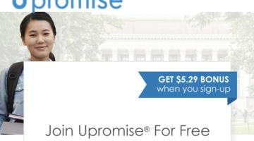Upromise $5.29 bonus